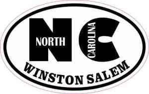 Oval NC Winston Salem Sticker