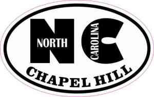 Oval NC Chapel Hill North Carolina Sticker