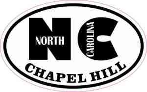 Oval NC Chapel Hill North Carolina Sticker