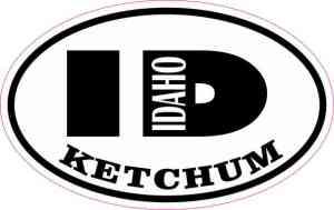 Oval ID Ketchum Idaho Sticker