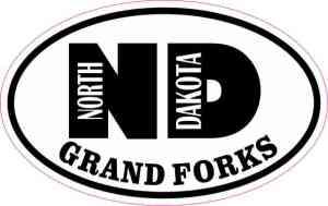 Oval ND Grand Forks North Dakota Sticker