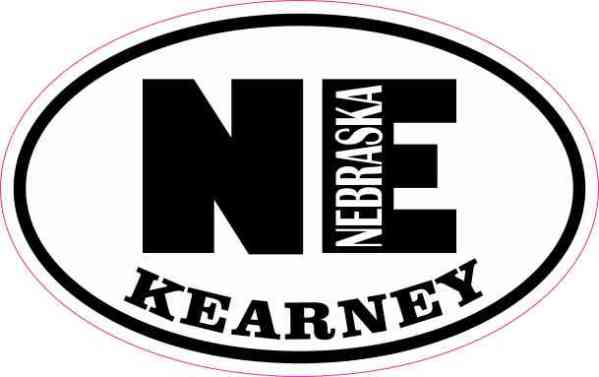 Oval NE Kearney Nebraska Sticker