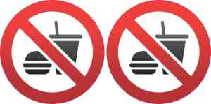 No Food or Drink Symbol Stickers