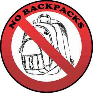 No Backpacks Sticker