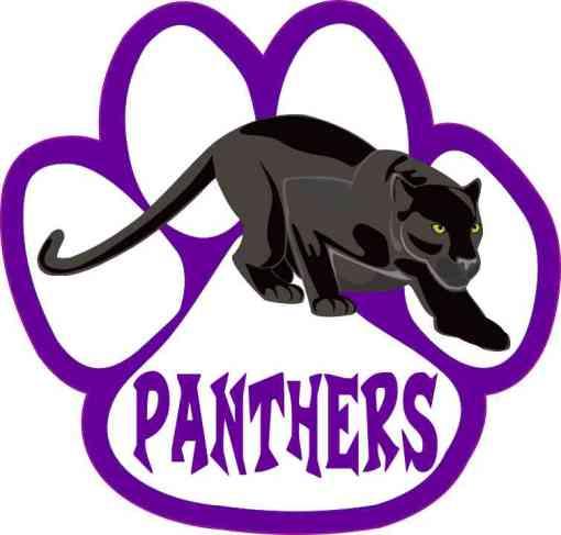 Purple Panther Paw Sticker