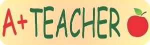 A+ Teacher Bumper Sticker