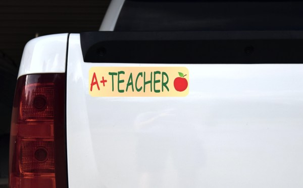 A+ Teacher Bumper Sticker
