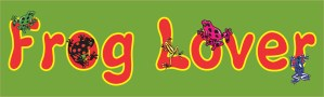Frog Lover Bumper Sticker