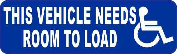 Vehicle Needs Room to Load Vinyl Sticker
