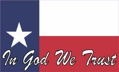 Script In God We Trust Texas Flag Magnet