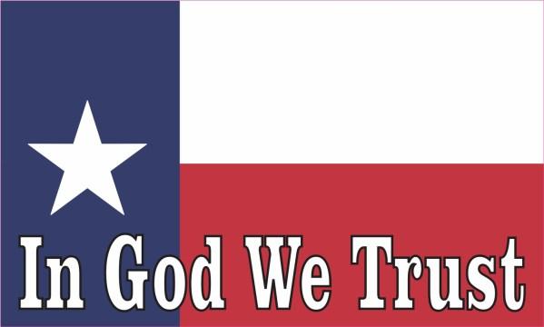 In God We Trust Texas Flag Magnet
