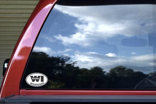 Oval WI Milwaukee Wisconsin Sticker