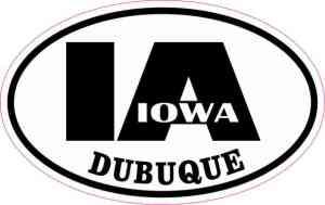 Oval IA Dubuque Iowa Sticker