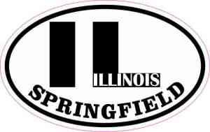 Oval IL Springfield Illinois Sticker
