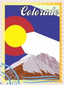 Colorado Stamp Vinyl Sticker