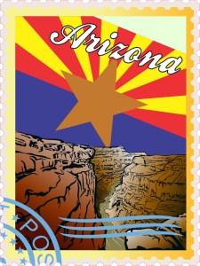 Arizona Stamp Sticker