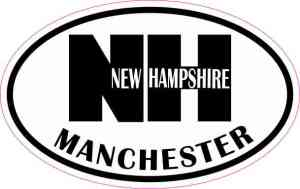 Oval Manchester NH Sticker