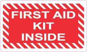 First Aid Kit Inside Sticker