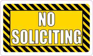 No Soliciting Magnet