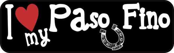 I Love My Paso Fino Vinyl Sticker