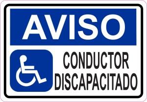 Aviso Conductor Discapacitado Magnet
