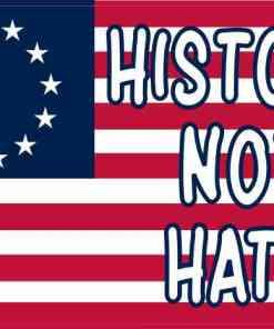 Betsy Ross Flag History Not Hate Vinyl Sticker