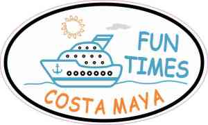 Cruise Ship Oval Costa Maya Sticker