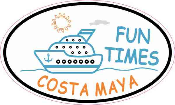 Cruise Ship Oval Costa Maya Vinyl Sticker