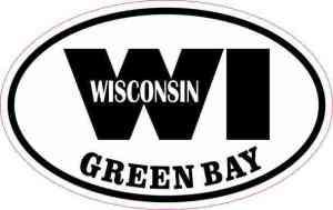 Oval WI Green Bay Vinyl Sticker