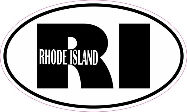 Oval RI Rhode Island Vinyl Sticker
