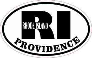 Oval RI Providence Vinyl Sticker