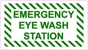 Emergency Eye Wash Station Vinyl Sticker