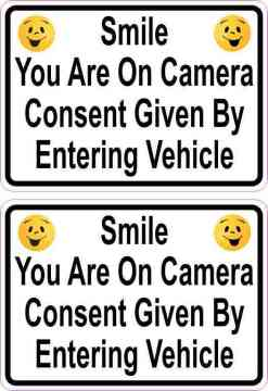 Happy Faces Smile You Are on Camera Vinyl Stickers