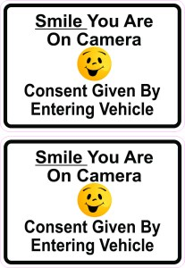 Smile You Are on Camera Vinyl Stickers