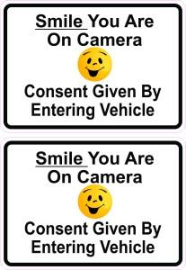 Smile You Are on Camera Vinyl Sticker