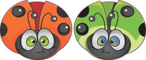Colorful Ladybug Vinyl Stickers