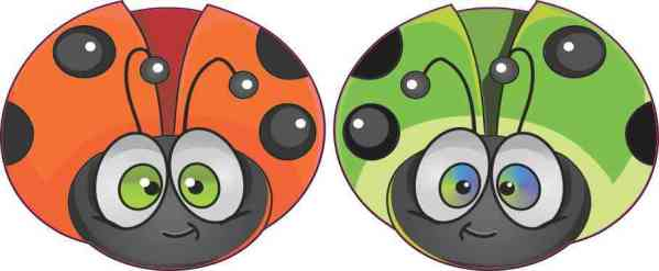 Colorful Ladybug Vinyl Stickers