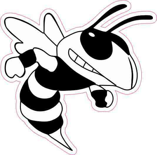 Right Facing Hornet Vinyl Sticker