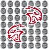 MOPAR Dodge Hellcat Head Logo Challenger Charger Durango JEEP