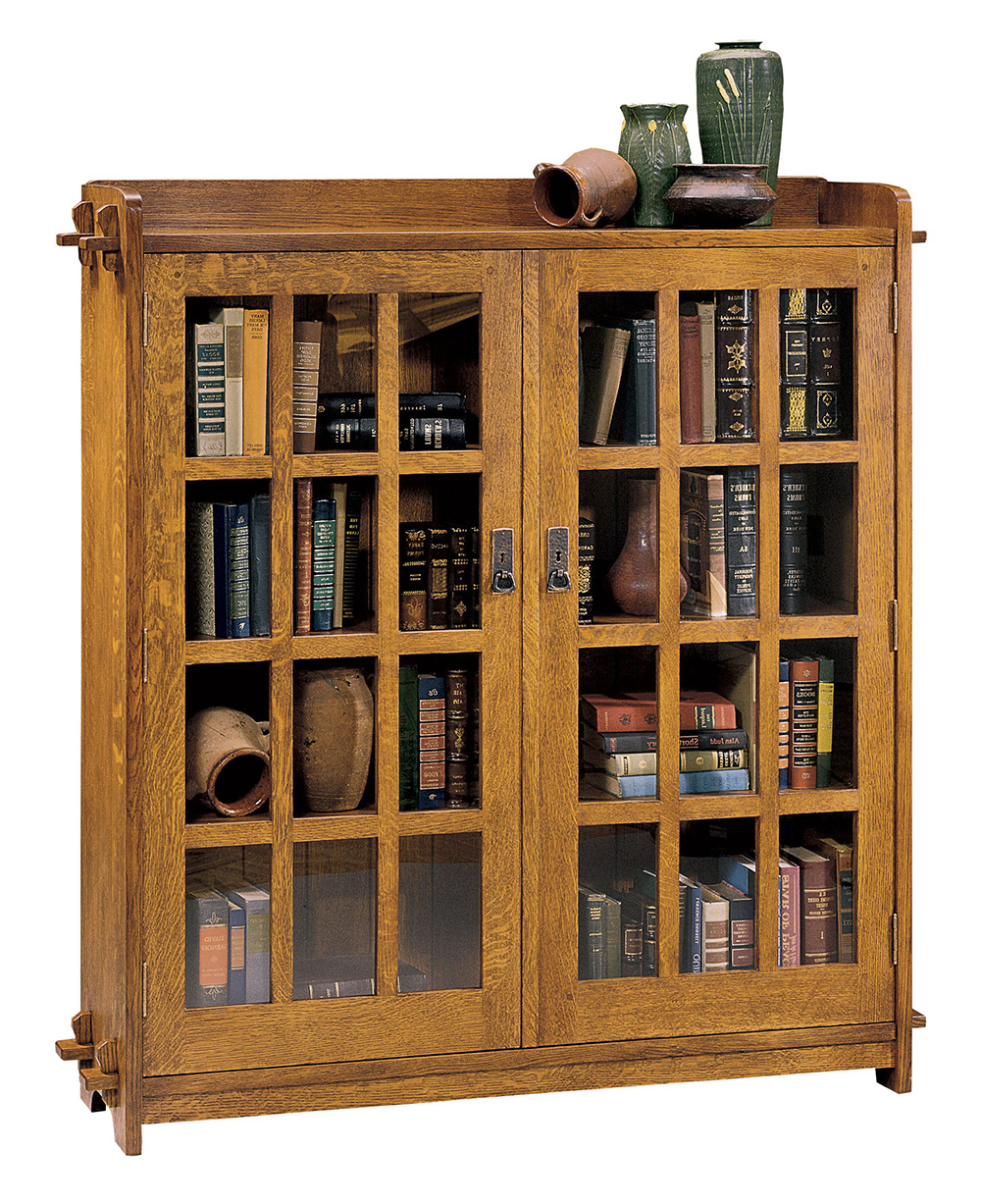 Double Bookcase With Glass Doors Mission Collection Stickley Furniture