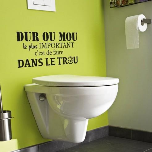 Sticker Dco Dur Ou Mou Le Plus Important Cest De