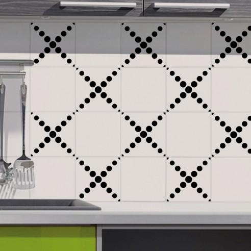 stickers decoration design pour carrelage cuisine salle de bain