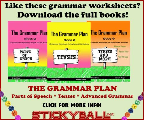 ESL Grammar Worksheets, Handouts, and Games for All Levels -