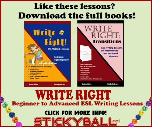 ESL Writing: Introduction to the Body of a Paragraph -