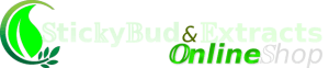 Sticky Bud And Extracts Online Shop white logo