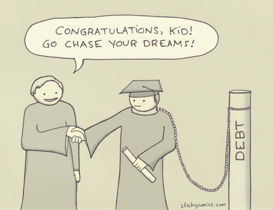 student loans: they're like mortgages but you get to live at your parents' house instead of your own