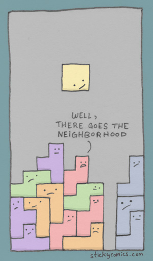 (tetris) someone crashed the block party