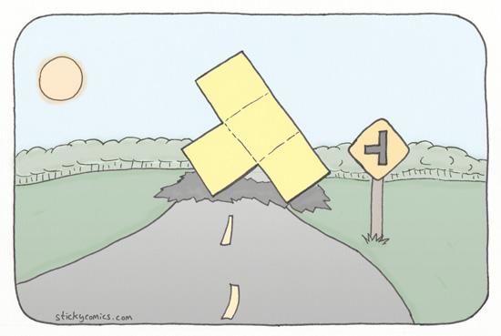 Caution: Falling Blocks