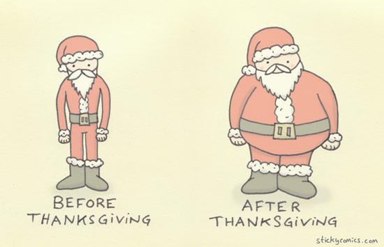 Thanksgiving: a festive stopover on Santa's sleigh ride to rock bottom