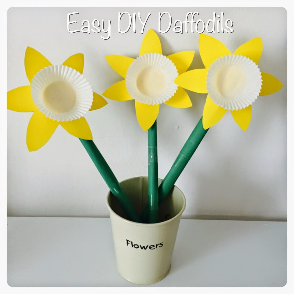 Diy paper daffodils crafts for kids sticky mud and for Diy paper crafts for kids